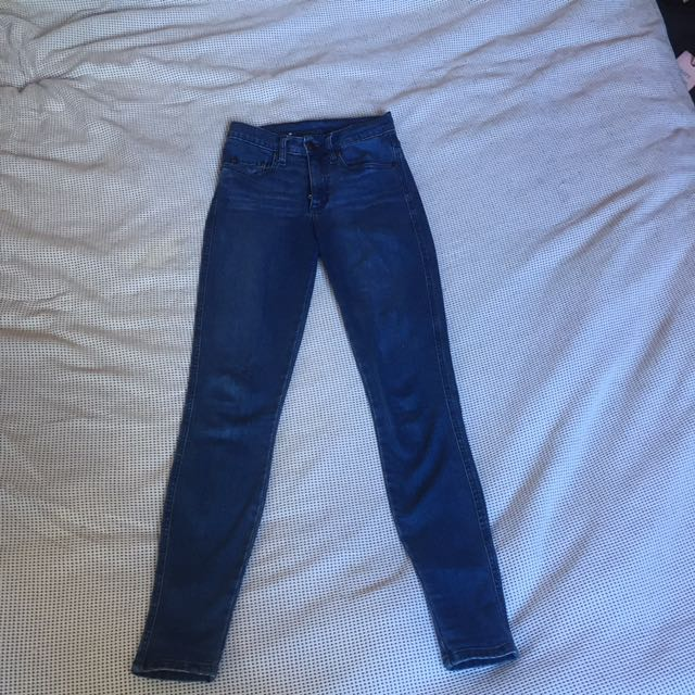 Nobody Cult Skinny Leg High Rise Size 24.