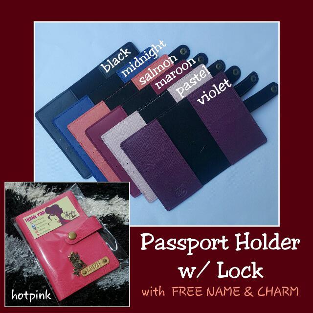Passport Holder with Lock