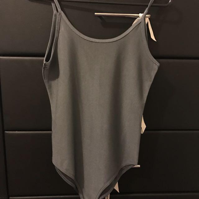 Plain Grey Bodysuit