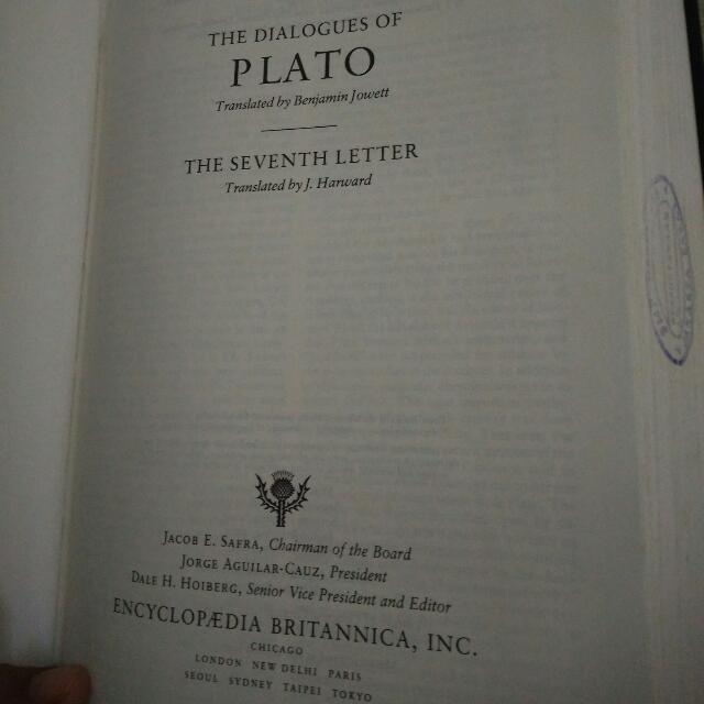 PLATO: The Dialog Of Plato
