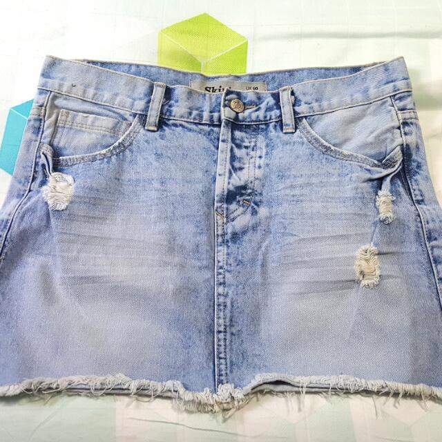 20452581d8c Plus Size Large Size Women Vintage Denim Skirts