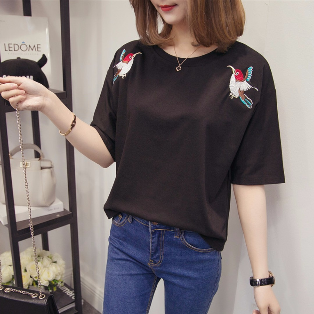 765709d42 PO) Ulzzang Tshirt, Women's Fashion, Clothes, Tops on Carousell