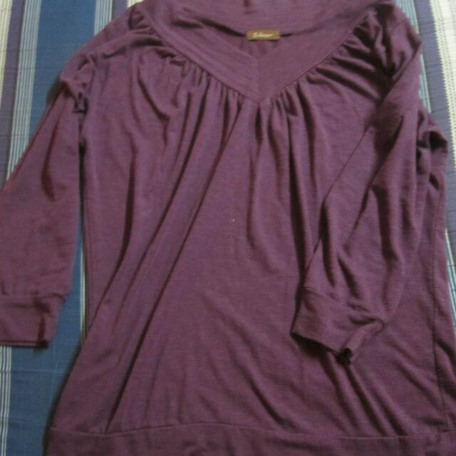 purple 3/4 shirt