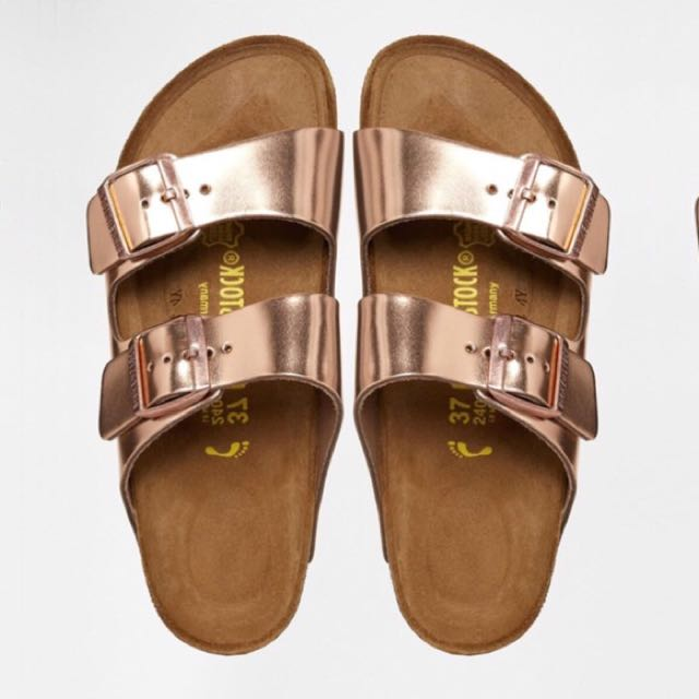 Rose Gold Birkenstocks