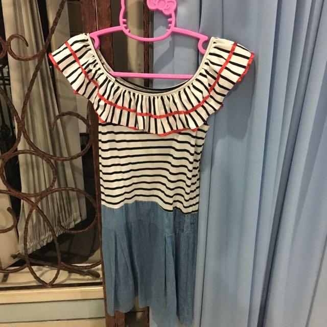 Sabrina Stripes Dress