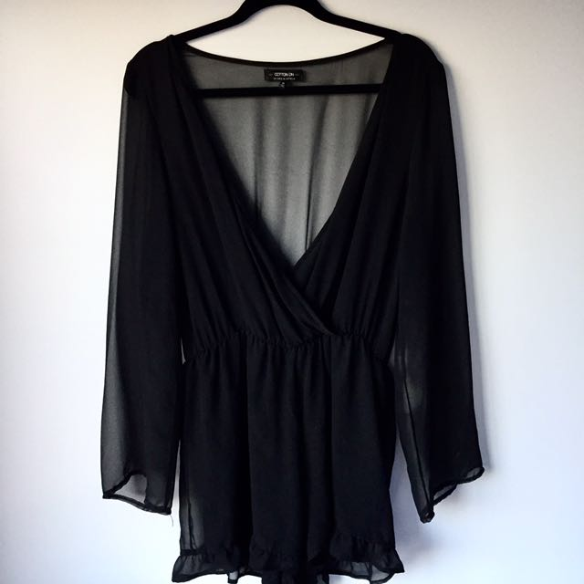 Size M Sheer Playsuit