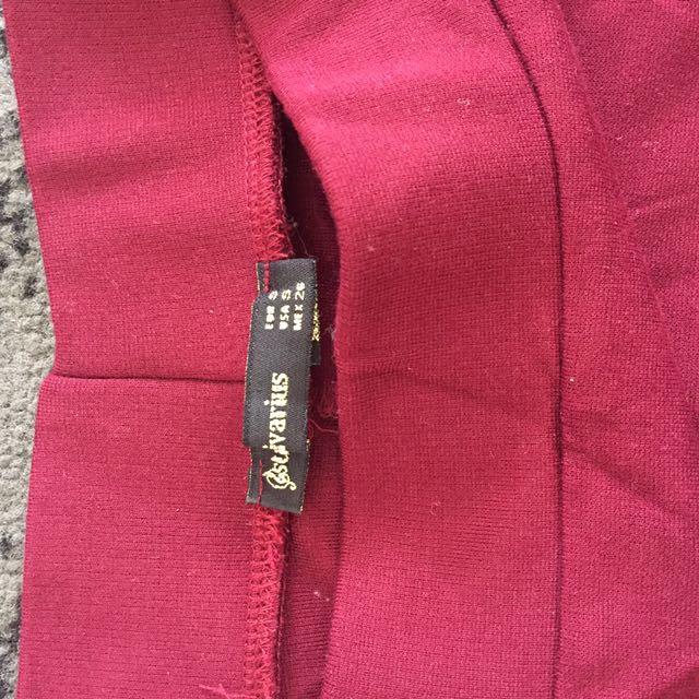Stradivarius Red Skirt
