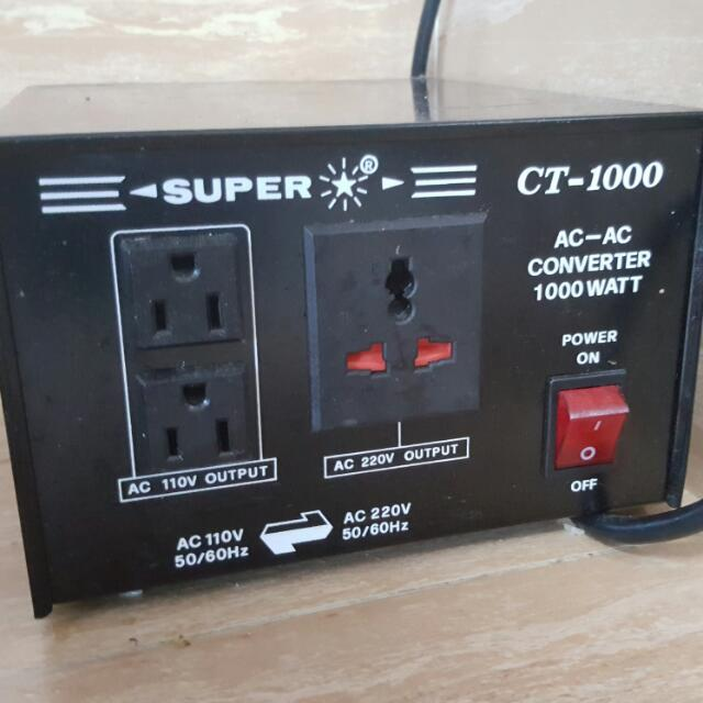 Super CT-1000 AC Step Down / Step Up Converter