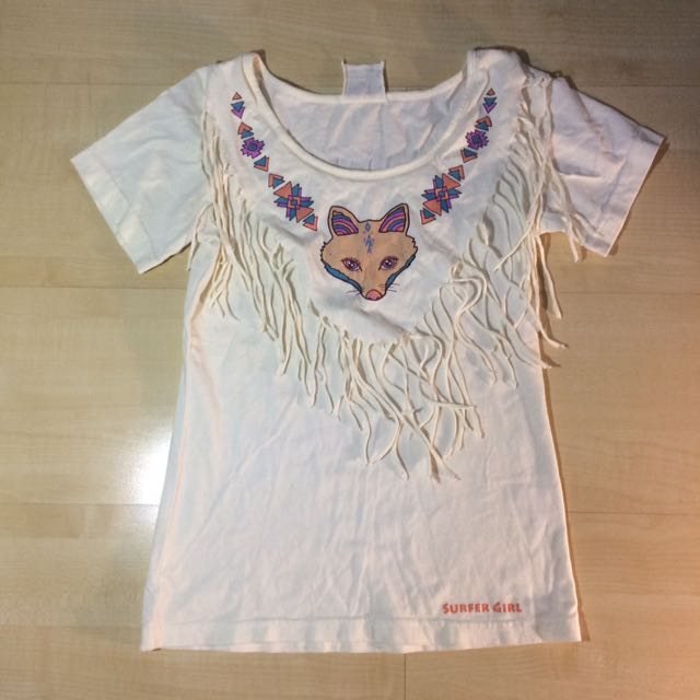 Surfer Girl Tribal Design With Fringe