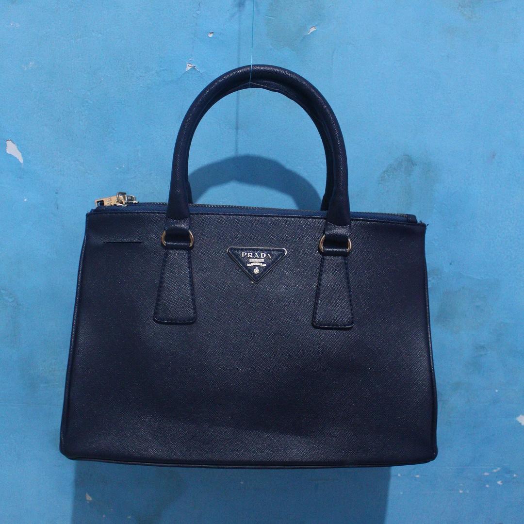 Tas Handbag Prada Milano Navy