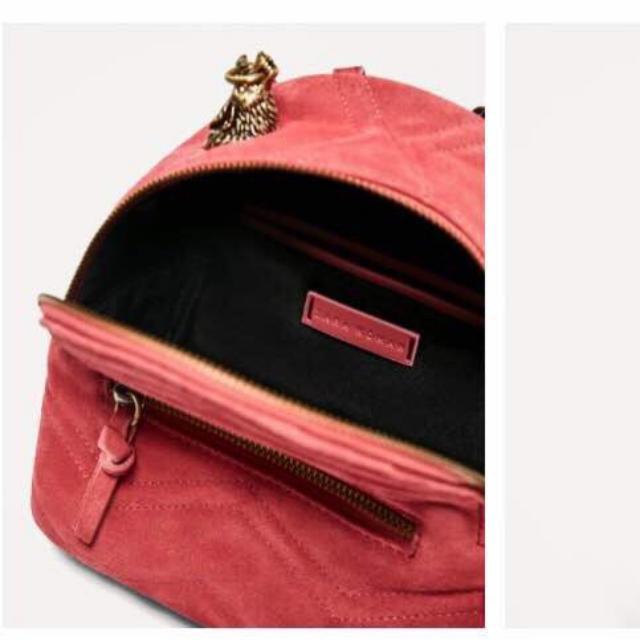 Tas Ransel Zara Backpack Suede Ori 7100