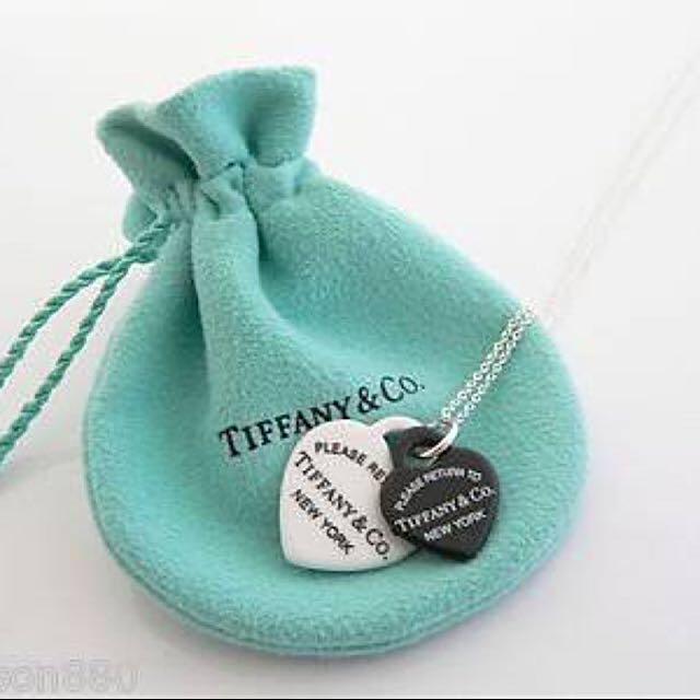 Tiffany&Co. Black&White Heart Pendant