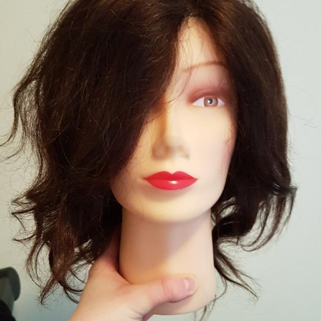 Training Mannequin With 100% Real Hair