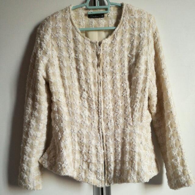 Tweed Peplum Jacket