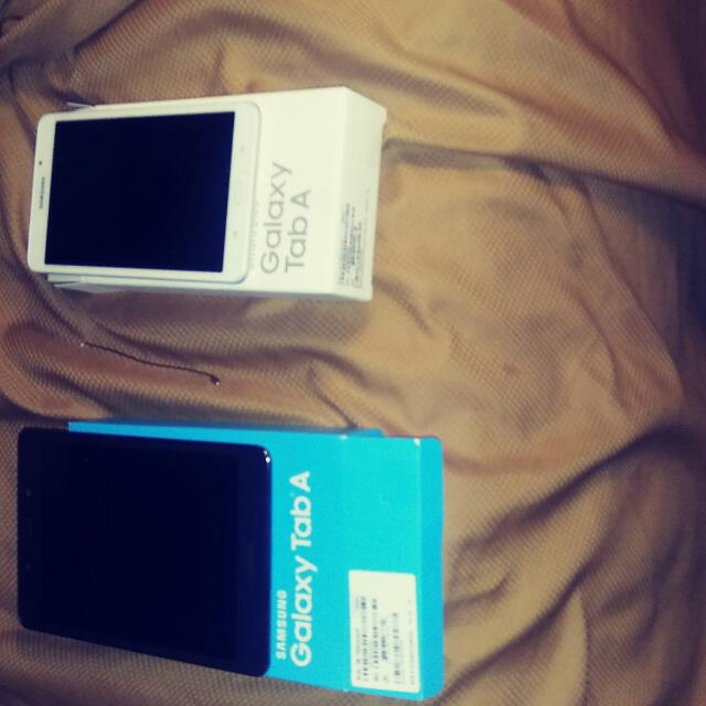 """Two Galaxy Tab A One 7"""" The Other 8"""""""