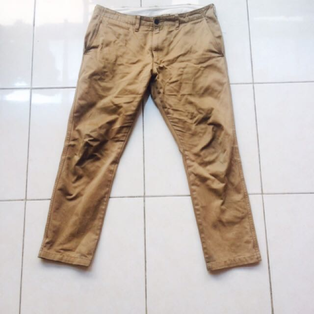 Uniqlo Slim Straight Chino Pants in Khaki