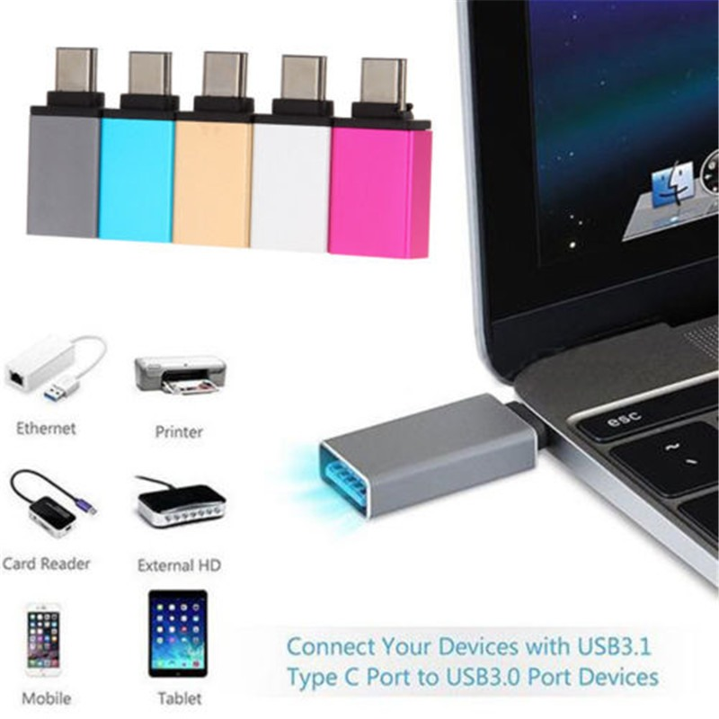 USB-C 3.1 Type C to USB 3.0 Female Adapter for NEW MacBook 5GBPS Premium Metal