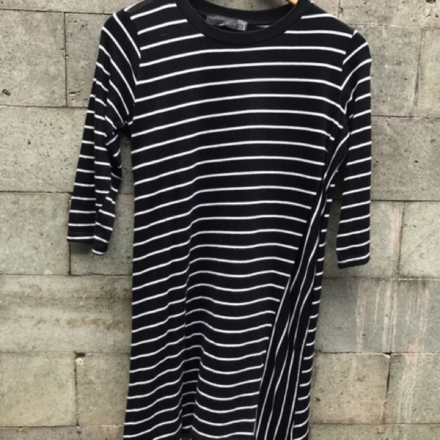 Zara TRF Striped Dress