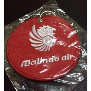 MALINDO AIR STEWARDESS LUGGAGE TAG