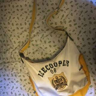 White And Yellow Lee Cooper Hobo Bag
