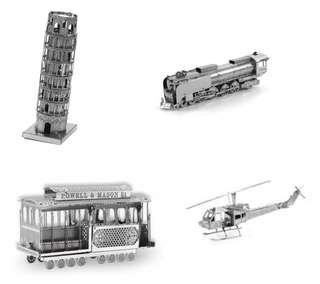 (送貨)3D DIY 金屬不鏽鋼立體模型 金屬拼圖