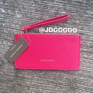 Charles & Keith Wristlet (HOT PINK)