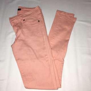 Peach Skinny Jeans Size 6