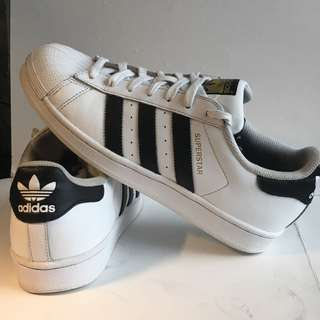 Classic Black And White Adidas Superstars