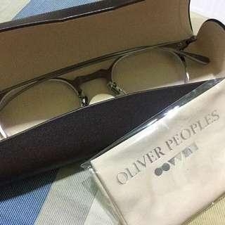 免運 - Oliver Peoples 眼鏡 純鈦 日本製 黑銀