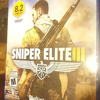 SNIPER ELITE 3 PS4 GAME 28$