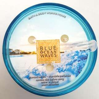 Blue Ocean Waves 3 Wick Candle