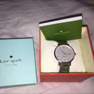 Authentic Kate Spade Silver Watch In Original Box