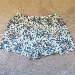 Floral Short Shorts