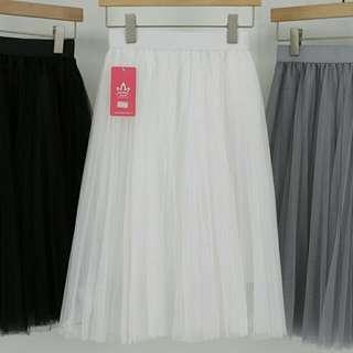中長款網紗半身裙 紗裙