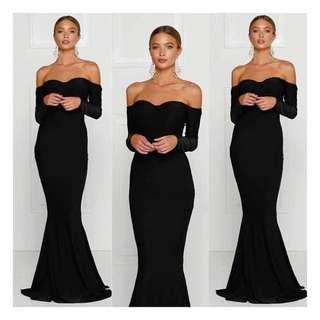 Beautiful Black Off The Shoulder Ball Dress