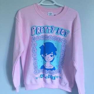 OMOCAT Pretty Boy Pink Crewneck Sweater