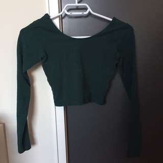 american apparel green long sleeve tee