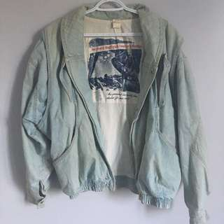 Reversible Oversized Denim Jacket