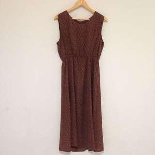 Sleeveless Maxi Dress Red Size 10 - 12
