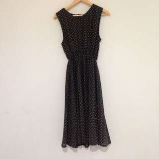 Sleeveless Black Maxi Dress Size 8-10
