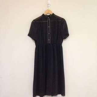 Short Sleeve See through Maxi Dress Size 8-19