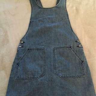 Denim Pinafore Overalls Dress - Stussy