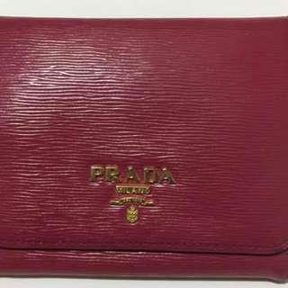 Prada Pink Wallet (Short Type)