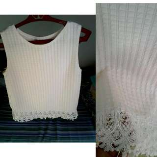 White Top With Design