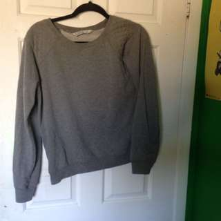 Large Grey Sweater With Side Zipper