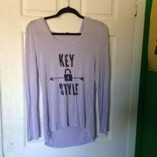 Key Style Lavender Sweater