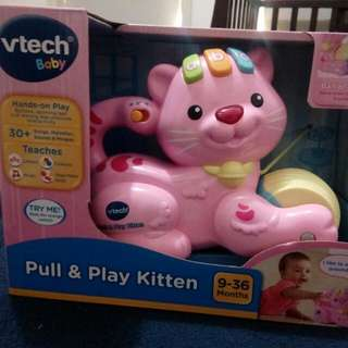 Brand new baby pull n play kitten toy