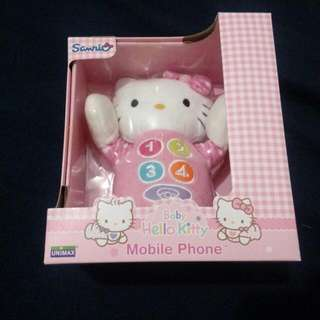 Brand new baby hello kitty phone toy