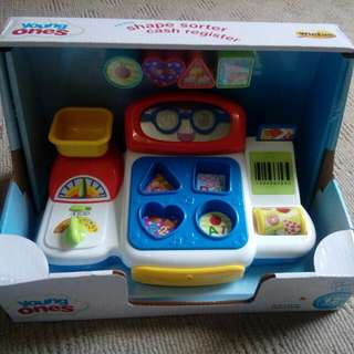 Brand new shape sort cash register toy