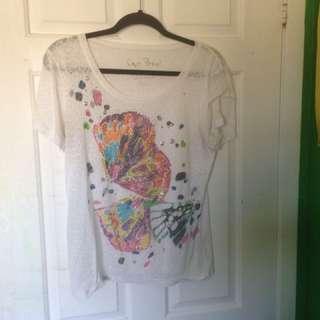 Sheer Butterfly Gemstone T-Shirt
